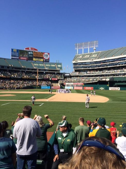 Oakland A's-Houston Astros game. Walkoff win for the A's!