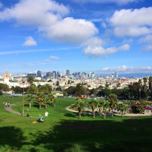 Lucky to live a few blocks from beautiful Dolores Park