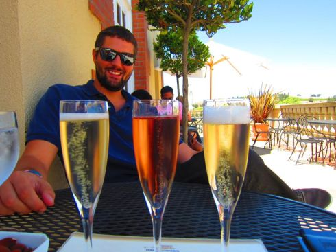 Champagne flight for my birthday!