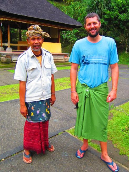 Tour guide - Sarong required to enter temple
