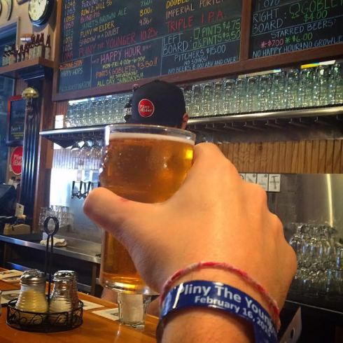 The world famous Pliny the Younger at Russian River Brewery