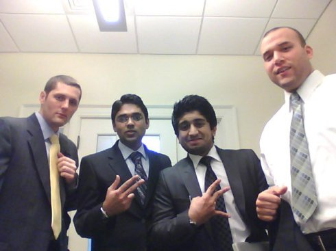 Startup pitch team (Left to Right): Me, Mohan, Vipul, and Sheldon.